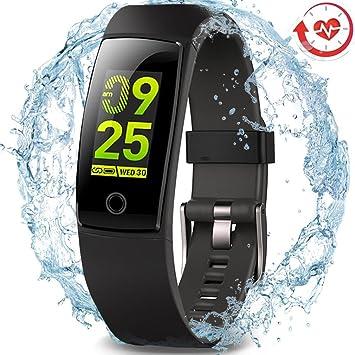 SLGJYY Smart Pulsera, Leer Fitness Rastreador con frecuencia cardíaca – Tensiómetro Digital, Nadar Smart