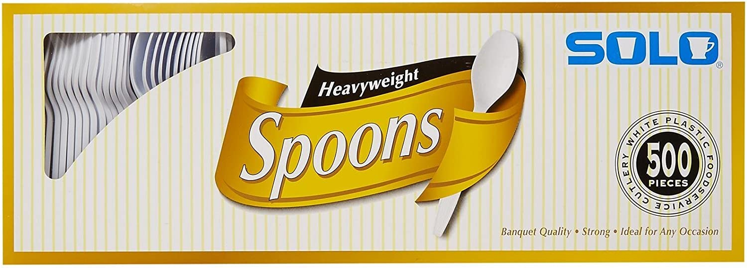 SOLO Cup Company Solo White Heavy Weight Spoons (500 Count), 1 Pack: Industrial & Scientific