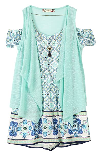 4ecfa626b9e Speechless Big Girls  2 Piece Cold Shoulder with Vest Romper