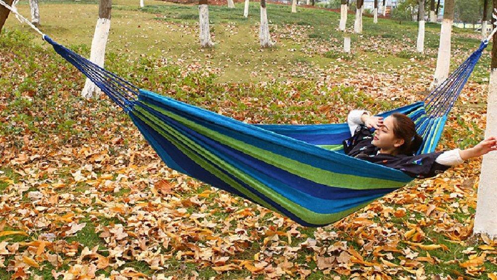 Butterme hamac Plus de personnes 280 x 150 cm pour le camping en plein air Voyage de pique-nique relaxant sommeil et Jardin charge 500kg