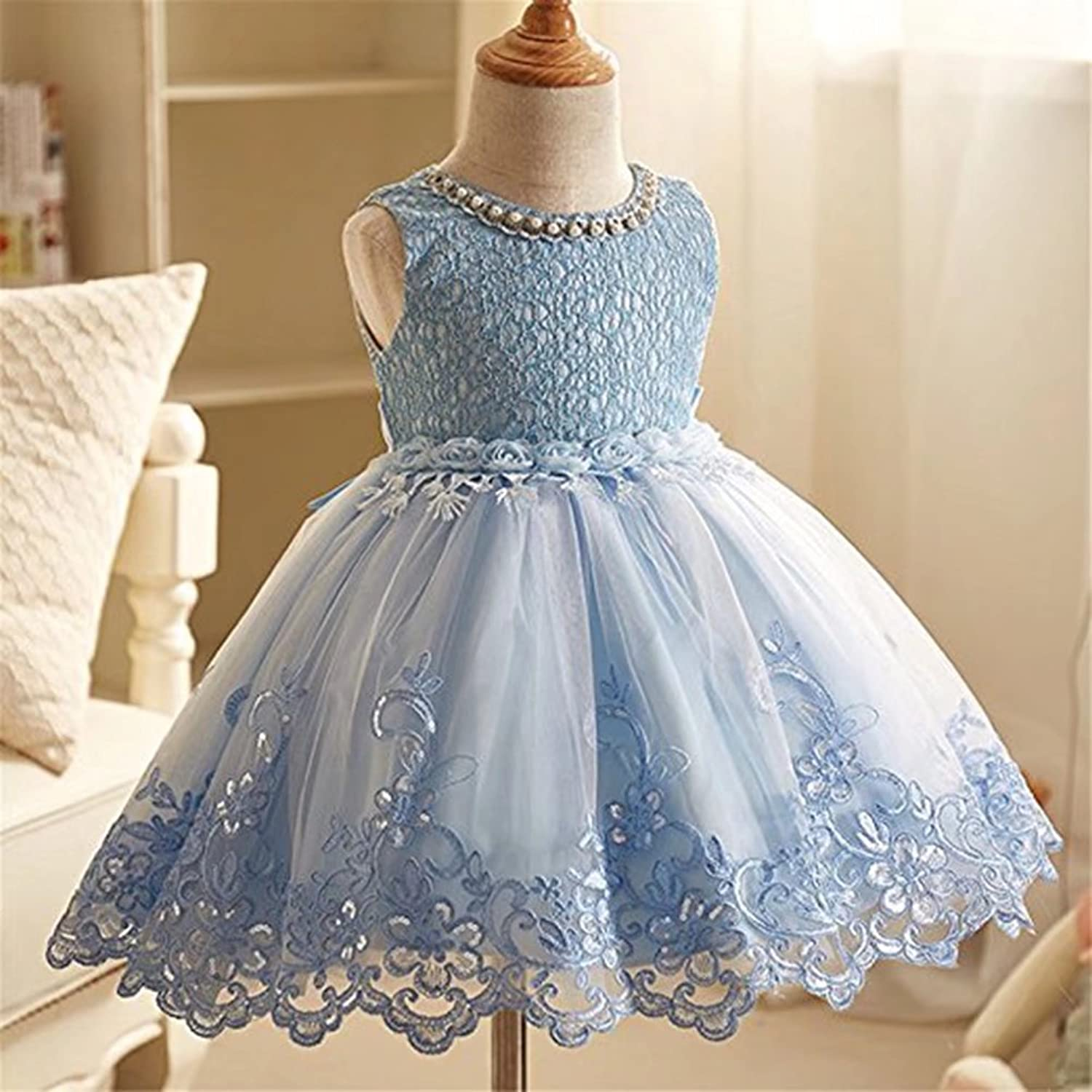 Amazon.com: ZaH Girl Party Dress Kids Ruffles Lace Party Wedding ...