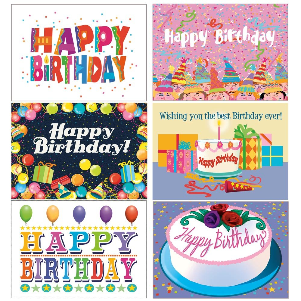 Amazon Birthday Card Assorted Pack Set of 24 Cards – Packs of Birthday Cards