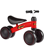 Lil' Rider 80-TRMN-R Ride on Mini Trike with Easy Grip Handles, Enclosed Wheels and No Pedals for Learning to Walk for Baby, Toddlers, Boys and Girls, Red