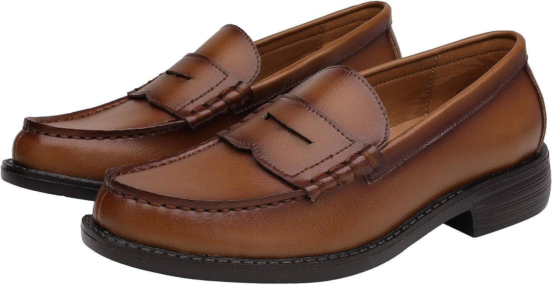 Yaer Classique Mocassins en Homme Cuir Fait /à la Main Penny Loafers Flat Business Chaussure Bateau