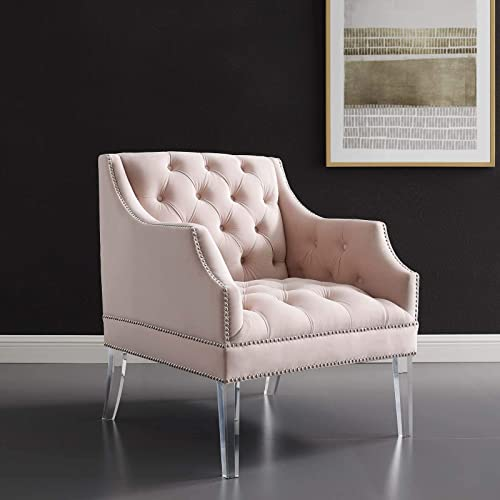 Modway Proverbial Performance Velvet Accent Lounge Arm Chair
