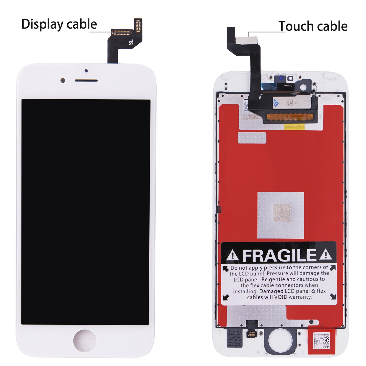 New iPhone 6S Screen Replacement LCD Dispaly for LCD Touch Screen Digitizer Assembly With 3D Touch Full Set Tools for iPhone 6S screen 4.7'' White by COCOCKA (Image #1)