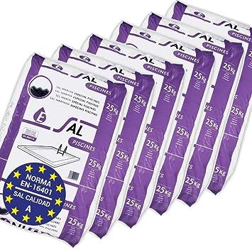 Pack de 150 Kg (6 Sacos de 25 kg.) ENISAL Sal Especial Piscinas