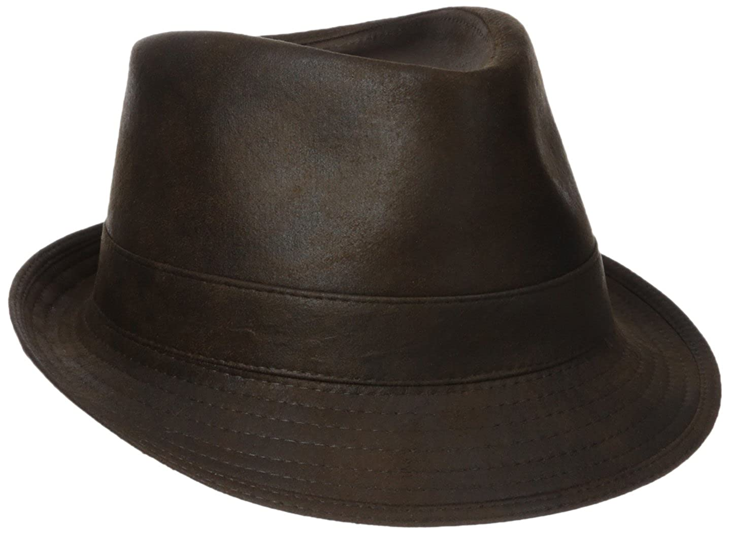 Henschel Men s Faux Ultra-Suede Leather Fedora with Satin Lining at Amazon  Men s Clothing store  2960fd676bc6