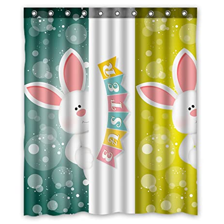 Amazon.com: Custom Cute Rabbit Happy Easter Shower Curtain 60x72 ...