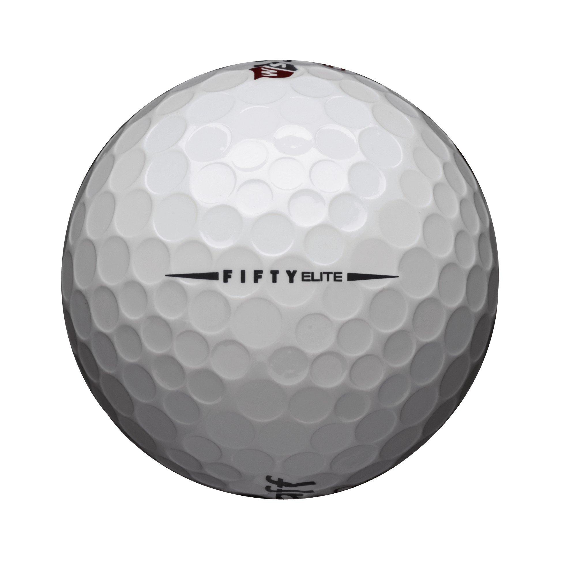 Wilson Golf Staff Fifty Elite Golf Balls, Dozen Slide Pack, White - WGWP17002 by Wilson