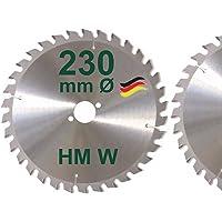 HM Sägeblatt 230 x 30 mm Zähne 34 W Kreissägeblatt Handkreissäge Hartmetall 230mm Ersatzsägeblatt für AEG / Atlas Copco / Bosch / Festo / Haffner / Holzer-Her / Scheer