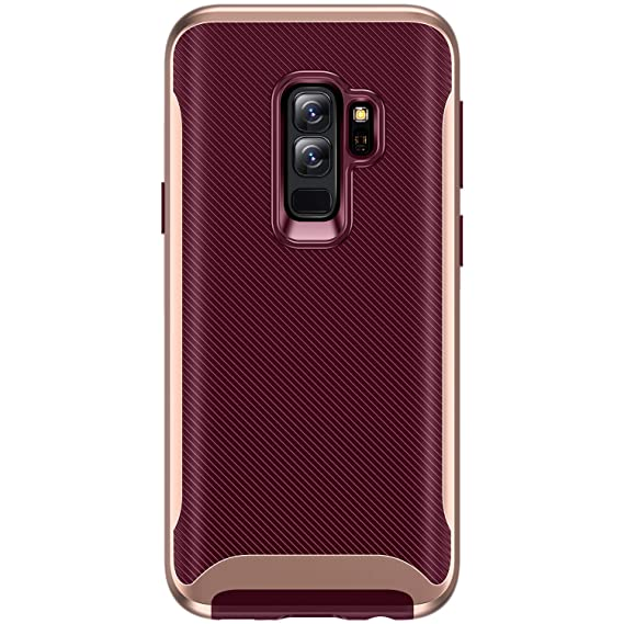 b123663e0e52 TORRAS Galaxy S9+ Plus Case, 2 in 1 Hybrid Fit Soft TPU Rubber Cover with