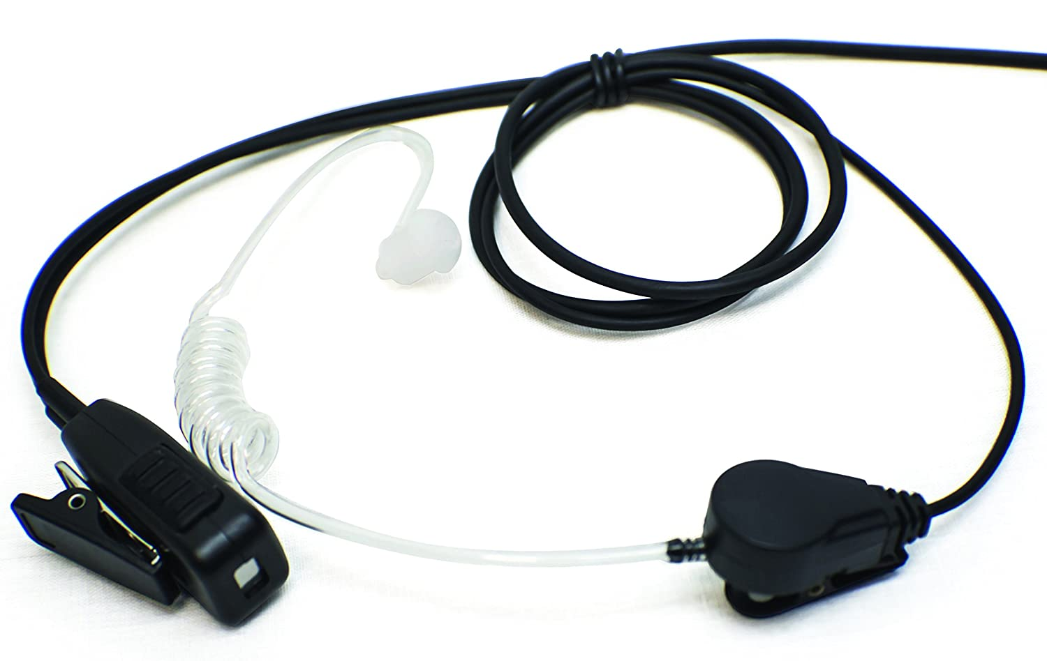 Single-Wire Surveillance Mic Kit for Motorola Mototrbo Digital Radios XPR6100 XPR6350 XPR6550 XPR7550 APX4000 APX6000 APX7000 DP3400 S49 Commercial Series Pulsat USA