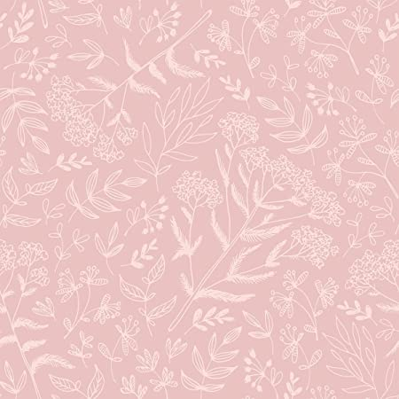 wallsbyme peel and stick pink floral baby fabric removable wallpaper 2964 2ft x 4ft 61x122cm