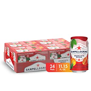 Sanpellegrino Italian Sparkling Drink, Blood Orange, 11.15 fl oz. Cans (Pack of 24)