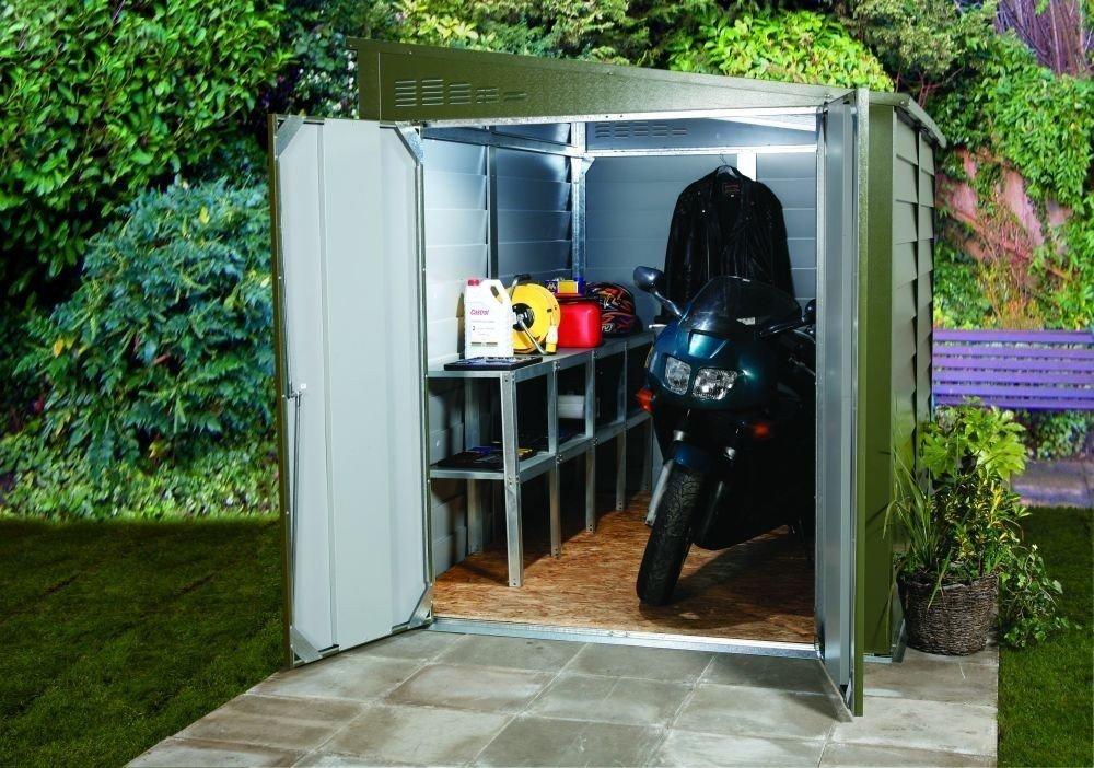 Casa de metal dispositivos de galvanisierten Acero - Titan 960 - B 191 x t 273 x h 211 cm: Amazon.es: Jardín