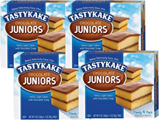 product image for Tastykake Chocolate, Coconut or Koffee Kake Juniors Family Size 4 Pack- A Philadelphia Baking Institution (Chocolate Juniors, 4 Pack)
