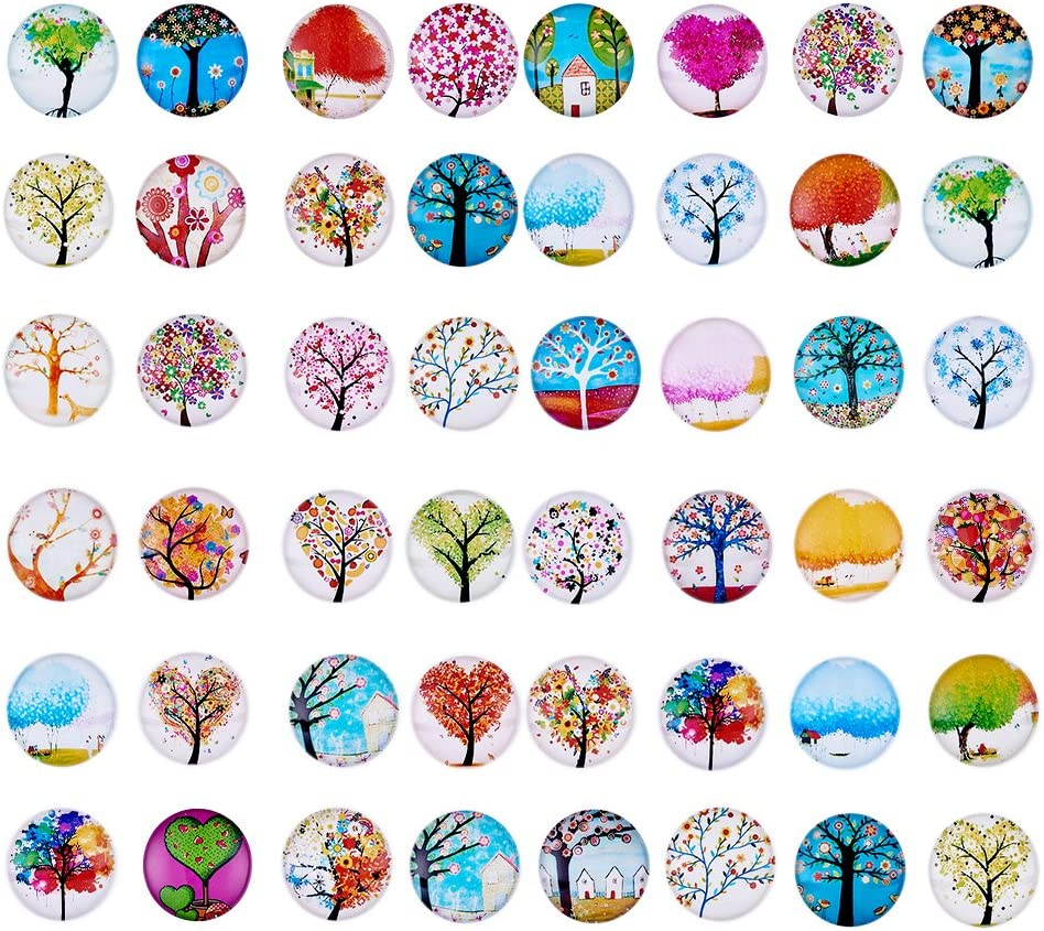 Craftdady 200Pcs Transparent Glass Cabochons 5.5~6mm Clear Glass Flat Back Dome Tile Half Round Cabochon Covers for Photo Pendant Jewelry Making