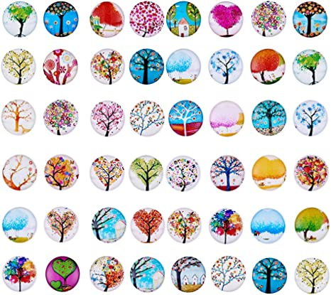 20 Pieces Glass Flatback Scrapbooking Dome Cabochons for Crafts DECOR 25mm