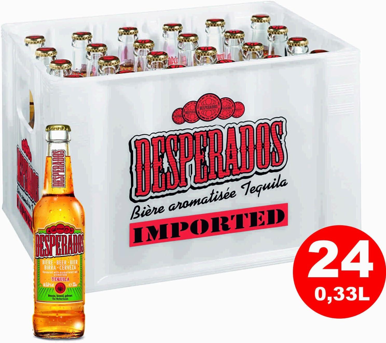 24 X Desperados Tequila Bier 0 33 Liter 5 9 Vol Amazon De Bier Wein Spirituosen