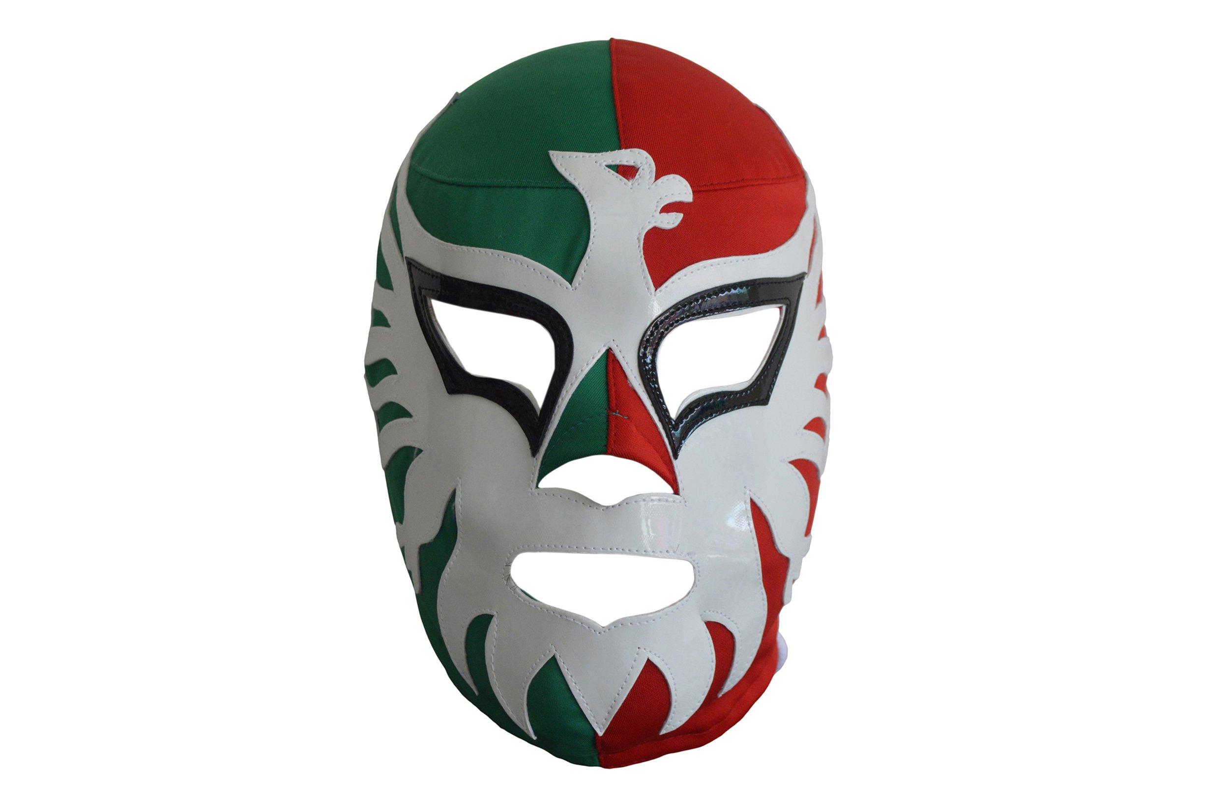 Deportes Martinez El Mexicano Adult Lucha Libre Wrestling Mask Luchador Costume Wear Tricolor