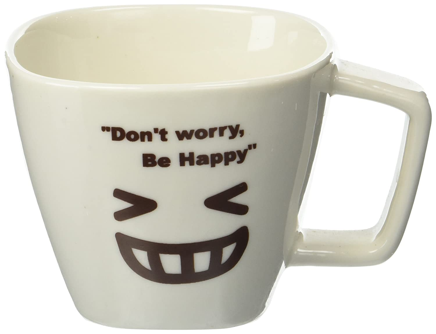 Southern HomewaresDon't Worry, Be Happy Face 03 Ceramic Tea Coffee Cup, White SH-10038