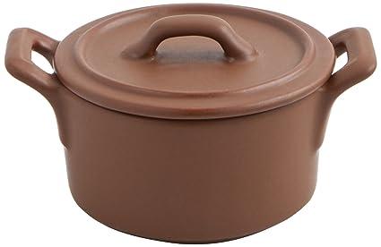 La Bouchée Aram - Cocotte, 12 cm, gres, color marrón