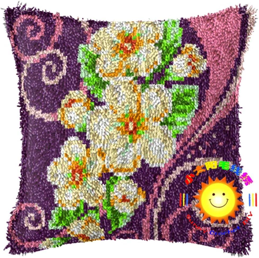 Lee My Blumen Mustern Kn/üpfkissen Kissenbezug DIY Handarbeit Selbst Kn/üpfen Set F/ür Kinder Home Dekor//Geschenk,Blooming Flower,42x42 cm Erwachsene Oder Anf/änger