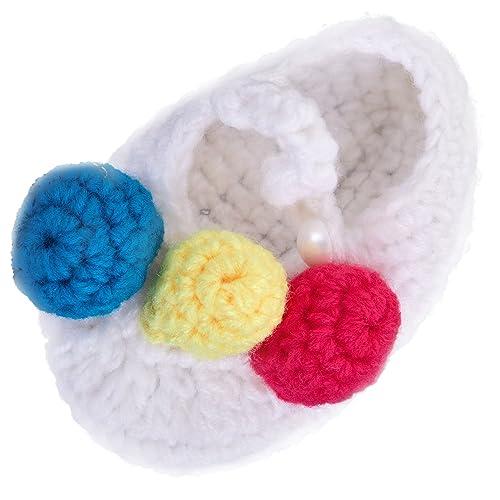 TOOGOO Bebes Recien Nacidos Bebes Pelota de 3 Colores Calcetines de Punto de Ganchillo Zapatos de
