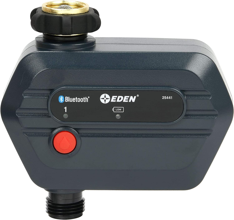 Eden 25441 Bluetooth Smart Water Hose Timer, 1-Zone, Compatible with Wireless Soil Moisture Sensor