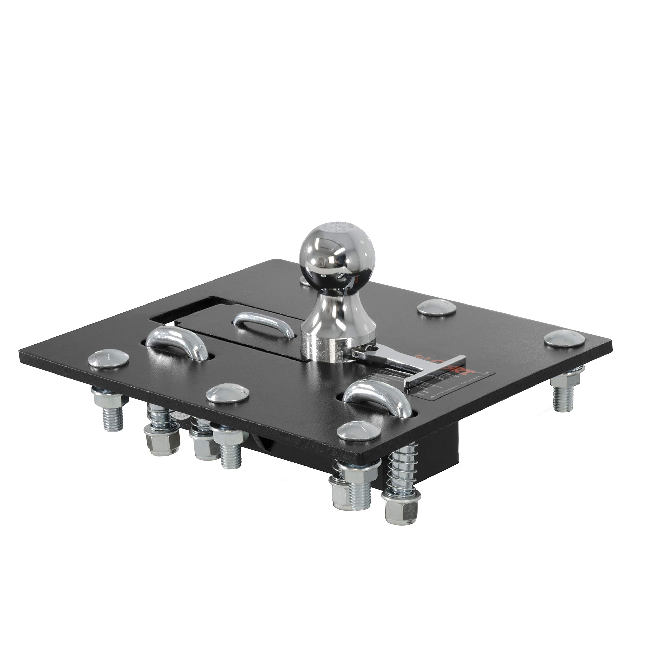 CURT 61052 Over- Black 2-5/16-Inch Bed Folding Gooseneck Hitch (30,000 lbs. GTW, 2-5/16'' Ball, Installation Brackets Sold Separately)