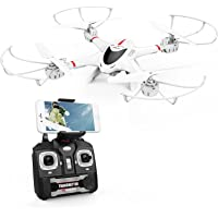 DBPOWER X400W FPV RC Quadcopter Drone WiFi Camera Live Video One Key Return Function Headless Mode 2.4GHz 4 Chanel 6 Axis Gyro RTF, Compatible 3D VR Headset