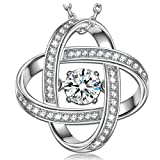 """Amazon Price History for:Dancing Heart """"Flipped"""" 925 Sterling Silver AAA CZ Pendant Necklace-a love story that never ends"""
