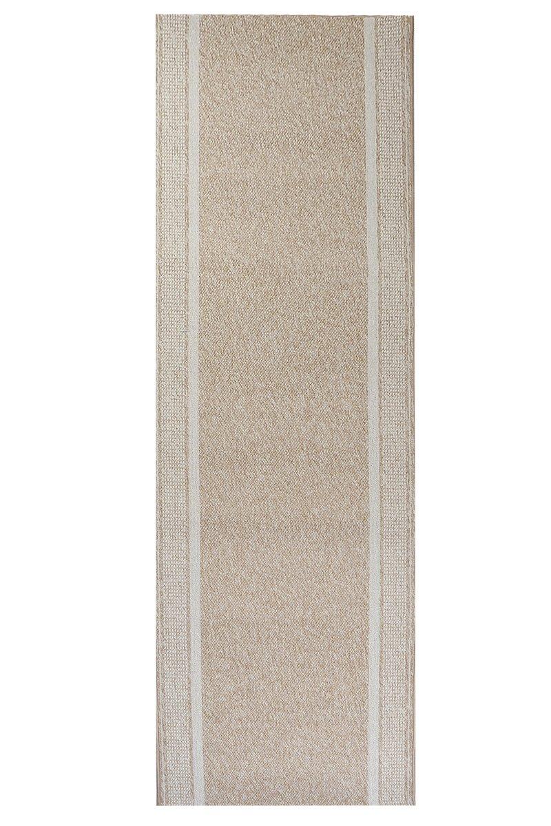 Teppich Schlingen Läufer Marathon - schadstoffgeprüft pflegeleicht   robust strapazierfähig schmutzabweisend   Diele Flur Schlafzimmer, Farbe Beige, Größe 100 x 550 cm