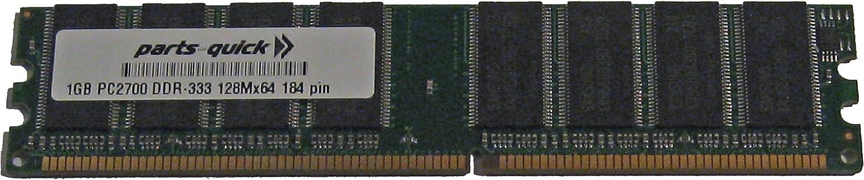 1GB PC2700 333MHz 184 pin DDR SDRAM Non-ECC DIMM Memory RAM for Dell Dimension 4600 (PARTS-QUICK BRAND)