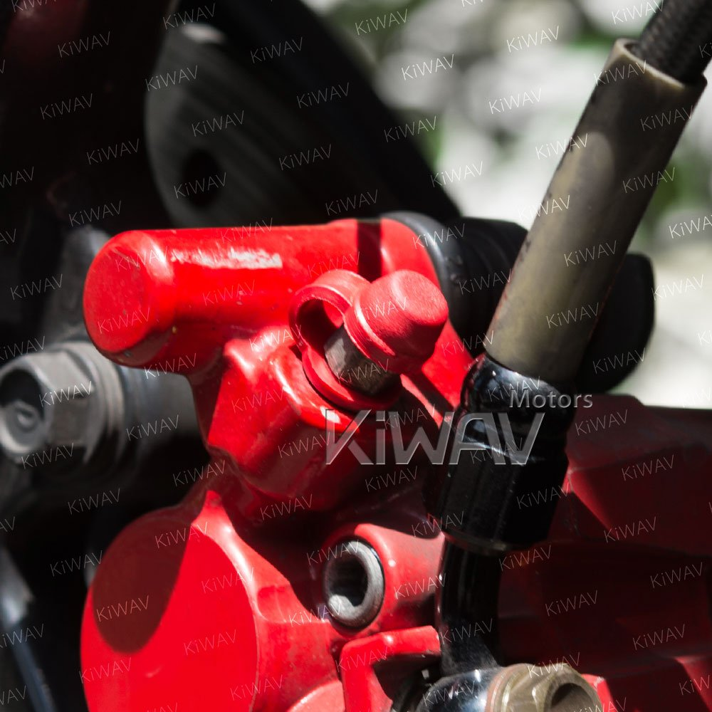 motorcycle brake caliper bleeder rubber cap red KiWAV