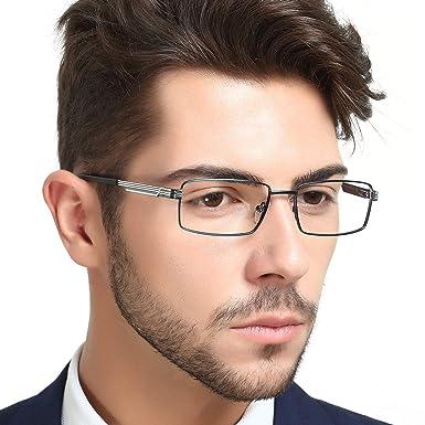 21cb4ead262 OCCI CHIARI Optical Metal Eyewear Non-prescription Eyeglasses Frame with  Clear Lenses For Mens (Gun)  Amazon.co.uk  Clothing