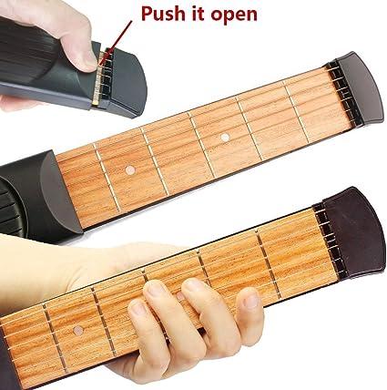 Greenten bolsillo guitarra cuerdas de práctica herramienta Gadget ...