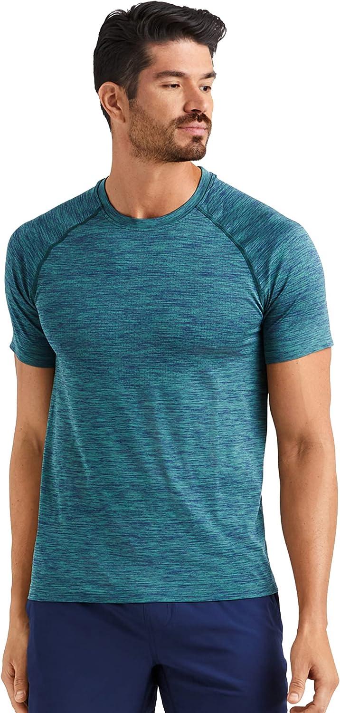 Rhone Men's Reign Tech Short Sleeve Premium Workout Shirt Lightweight, Anti-Odor, Moisture Wicking, Quick Dry Technology