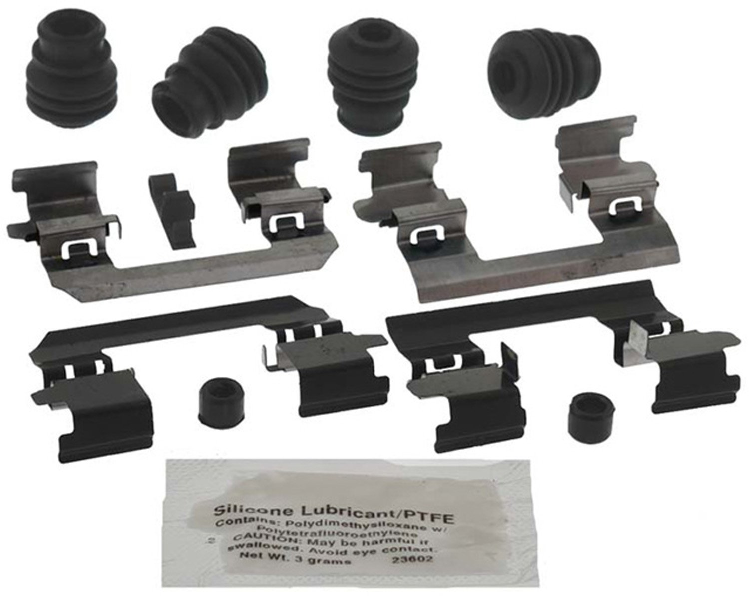 and Lubricant Seals ACDelco 18K1997X Professional Front Disc Brake Caliper Hardware Kit with Clips Bushings