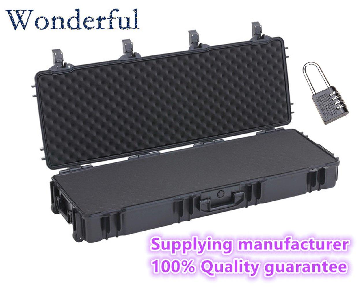 Wonderful pc-12016 WatertightケースABS素材、密封防水、防塵to keep your製品Dry and、カスタマイズ可能、取り外し可能Pick N Pluck Foam (ブラック)   B01ELKZ4XC