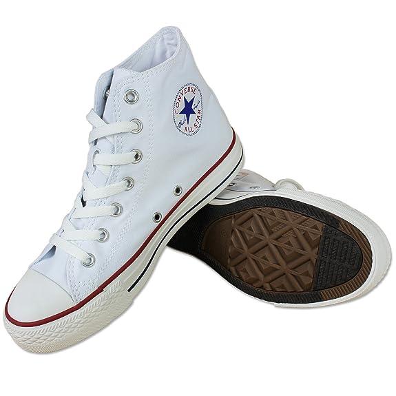 Converse Chuck All Star Hi Lona Blanco Zapatillas Chucks Sneakers 35-43 - Blanco, 39 Eu