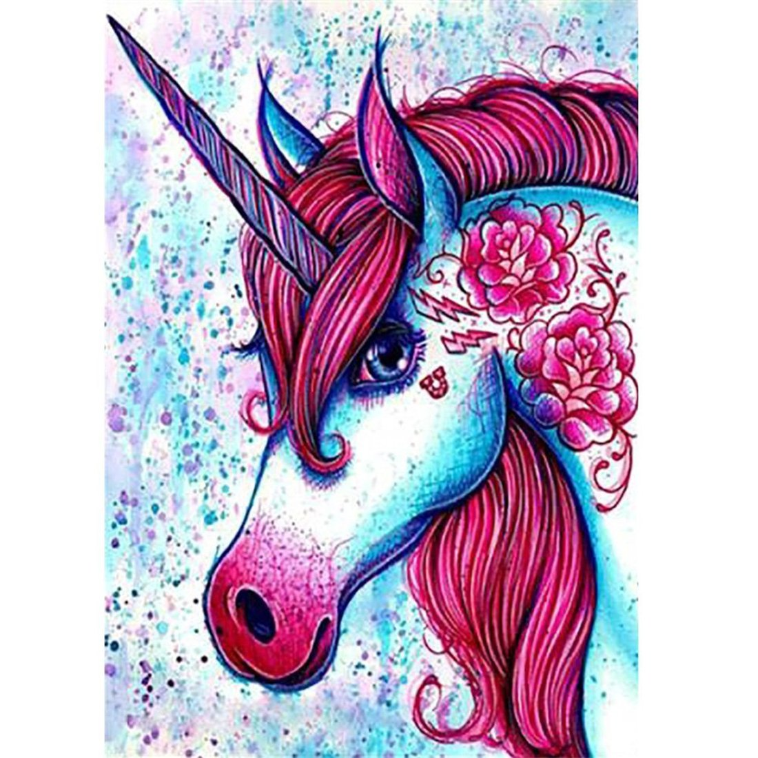 DIY 5D Diamond Painting by number Kits,Pittura diamante 5d fai da te Colored Unicorn//unicorno Full drill strass ricamo a punto croce PICTURES Arts Craft for home Wall Decor 30/ x 40/ cm