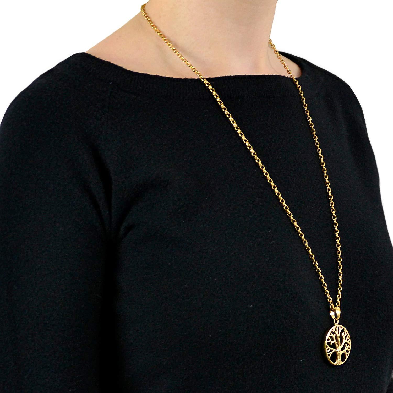 Morella Collar de Mujer con Colgante /Árbol de la Vida 70 cm en una Bolsa de joyer/ía