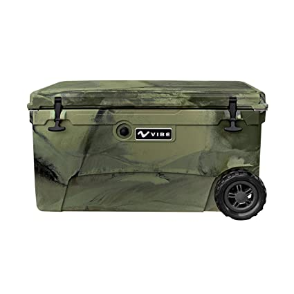 Vibe Heavy Duty 45 Quart Roto Molded Cooler Ice Chest with Bottle Openers Gray