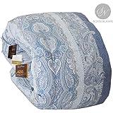 昭和西川 品质可靠 保暖蓬松羽绒被 日本制造 单人床 小双人床 双人床 蓝色 クイーン 3011100118417