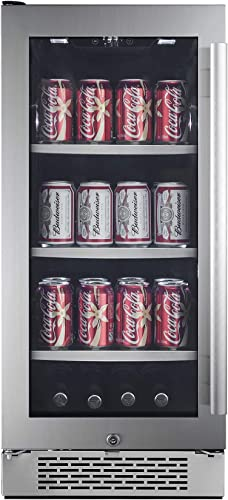 Avallon ABR151SGLH 86 Can 15 Built-In Beverage Cooler