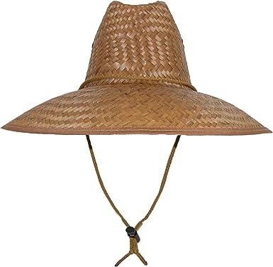 Men/'s Lifeguard Palm Straw Sun Hat