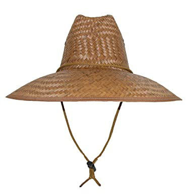 ea46e384073d0 CTM Palm Straw Lifeguard Hat with Wide Brim