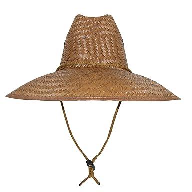 26a1b161f27 CTM Palm Straw Lifeguard Hat with Wide Brim